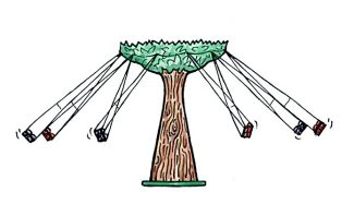 The newest ride coming to the Glenwood Caverns Adventure Park will look like a tree with swings extending from it, as shown in this artist's rendition. The park is conducting a naming contest for the ride.