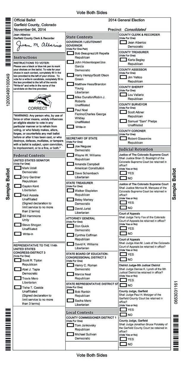 A guide to everything on your ballot | PostIndependent.com
