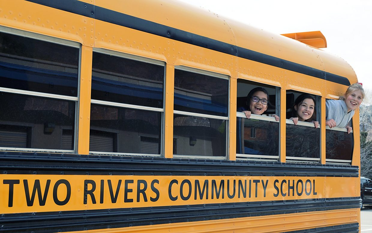 Two Rivers Community School students Angie Gonzalez