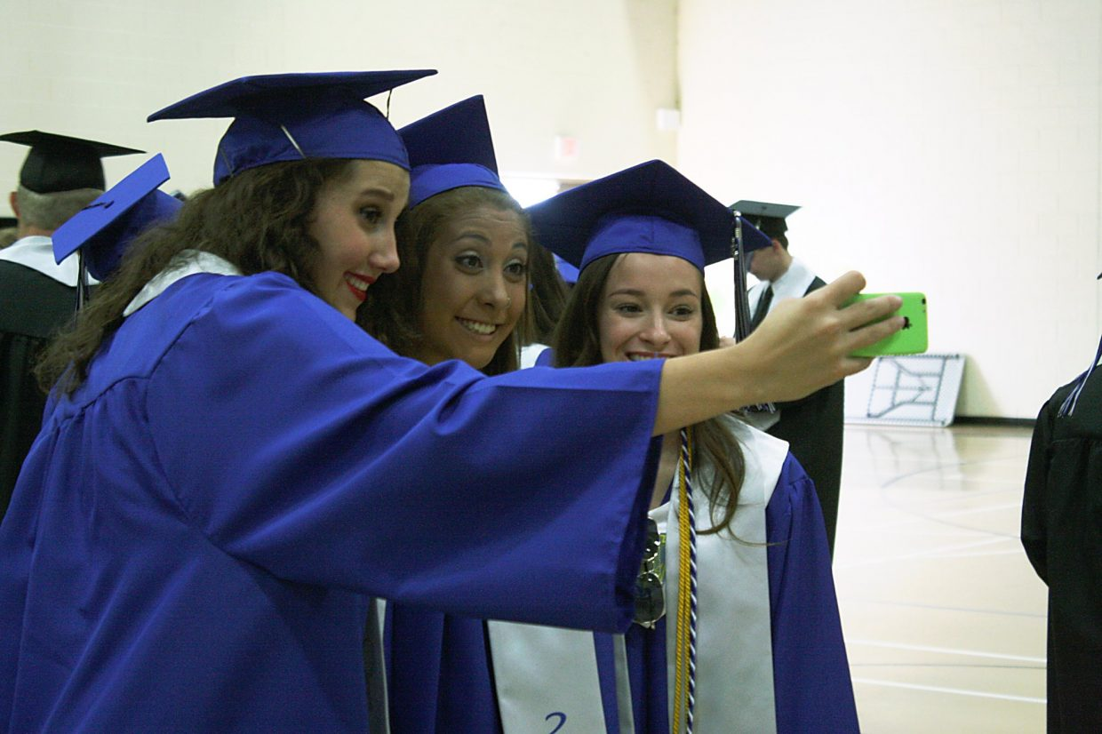 Ashleigh Tucker, Malia Cabrera and Kelsey Disher take a selfie.