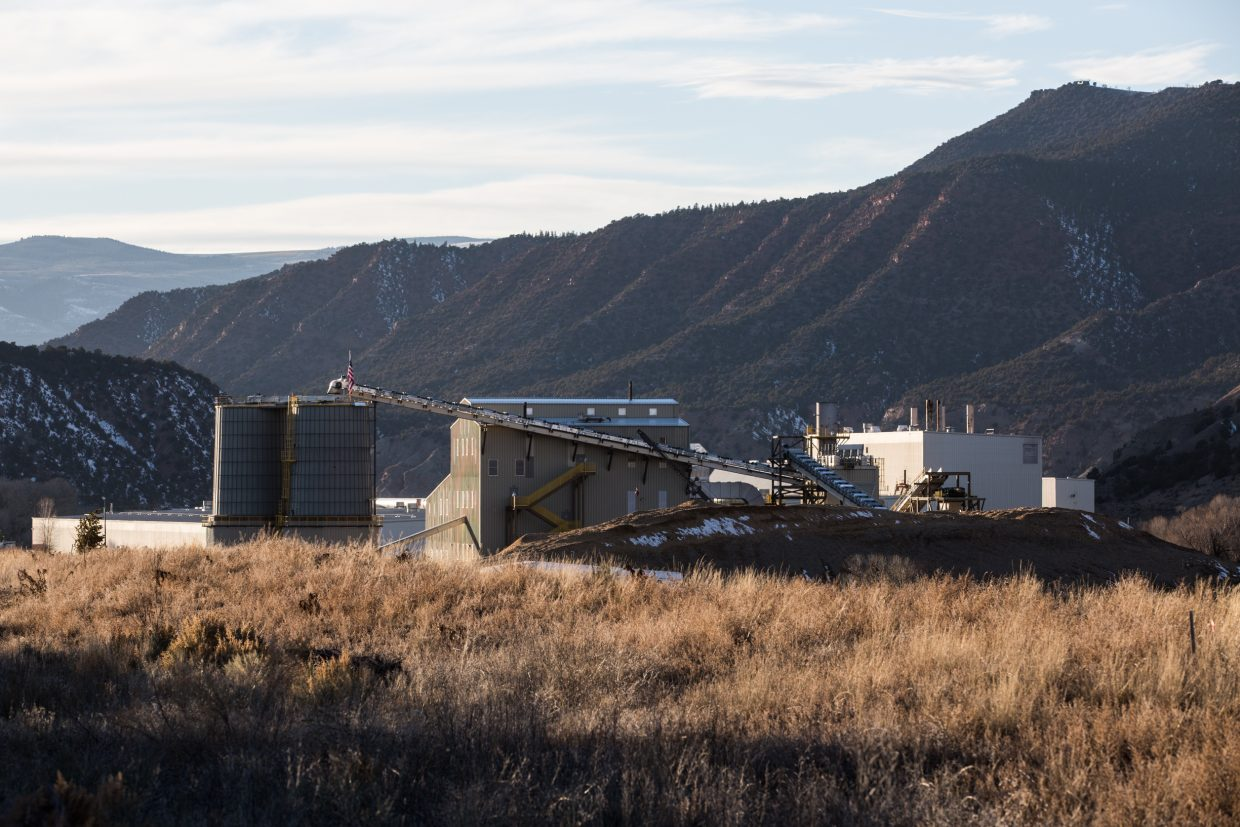 The Gypsum biomass plant, seen here on Sunday, has been closed since a fire started on an exterior conveyor belt on Dec. 13, 2014. Eagle Valley Clean Energy, the facility's owner and operator, is now facing accusations and a lawsuit and has filed a countersuit against the company that built the plant.