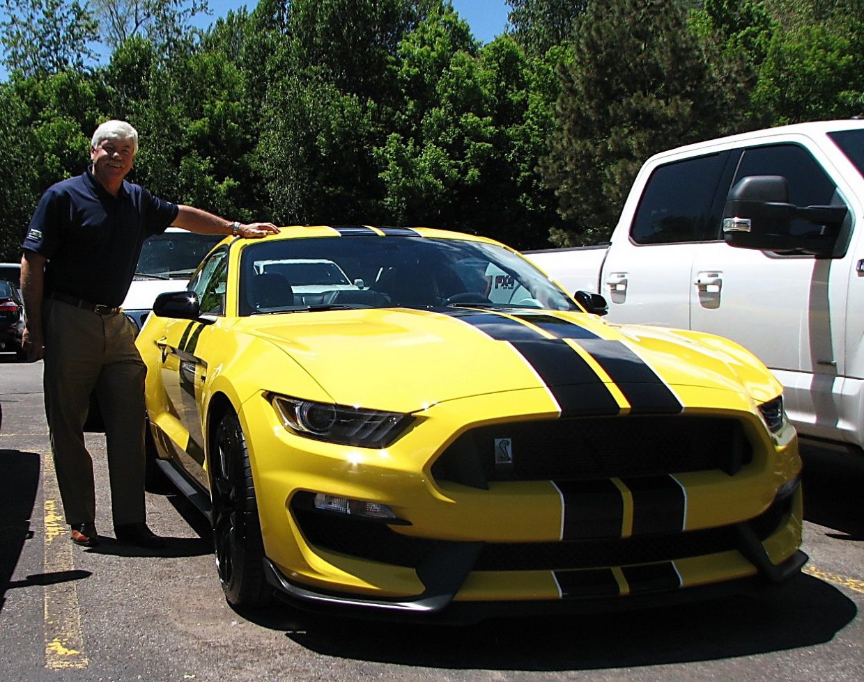Jeff Carlson, president of Glenwood Springs Ford, Summit Ford and Glenwood Springs Subaru, who is the 2016 chairman of the National Automobile Dealers Association, couldn't resist buying this Mustang Shelby 350 GT for himself.