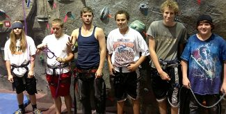 Yampah Mountain High School students who plan to participate in this year's Climb4Life include, from left, Daniel Boatwright, Ethan Schroerlucke, Tylor Mead, Kalin Bontrager, Jake Spencer and Shane Granville.