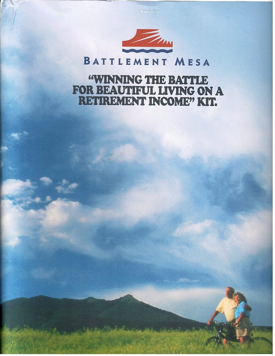This is the cover of the brochure Bill and Eleanor Nelson got when they visited Battlement Mesa in 1997 to look at potential home sites.