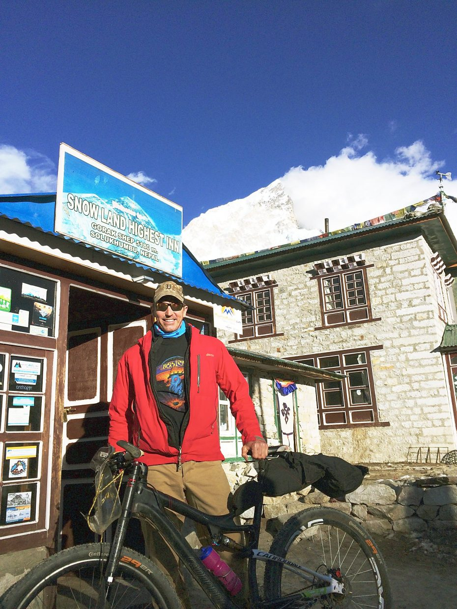 Patrick Sweeney stopped in Gorakshep the night before reaching Mount Everest base camp. Temperatures that night dropped below negative-30 Fahrenheit.