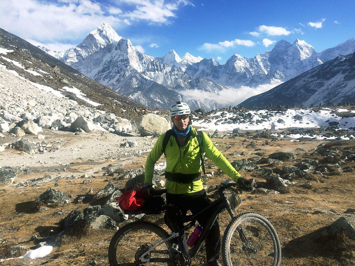 On his journey, Patrick Sweeney climbed 40,000 vertical feet and countless mountain passes to become the first adventurer in several decades to reach Mount Everest base camp on a bike.