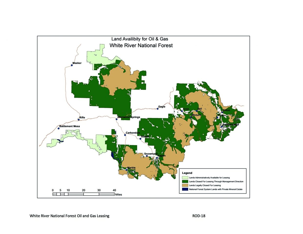 White River National Forest lease plan excludes Thompson Divide ...