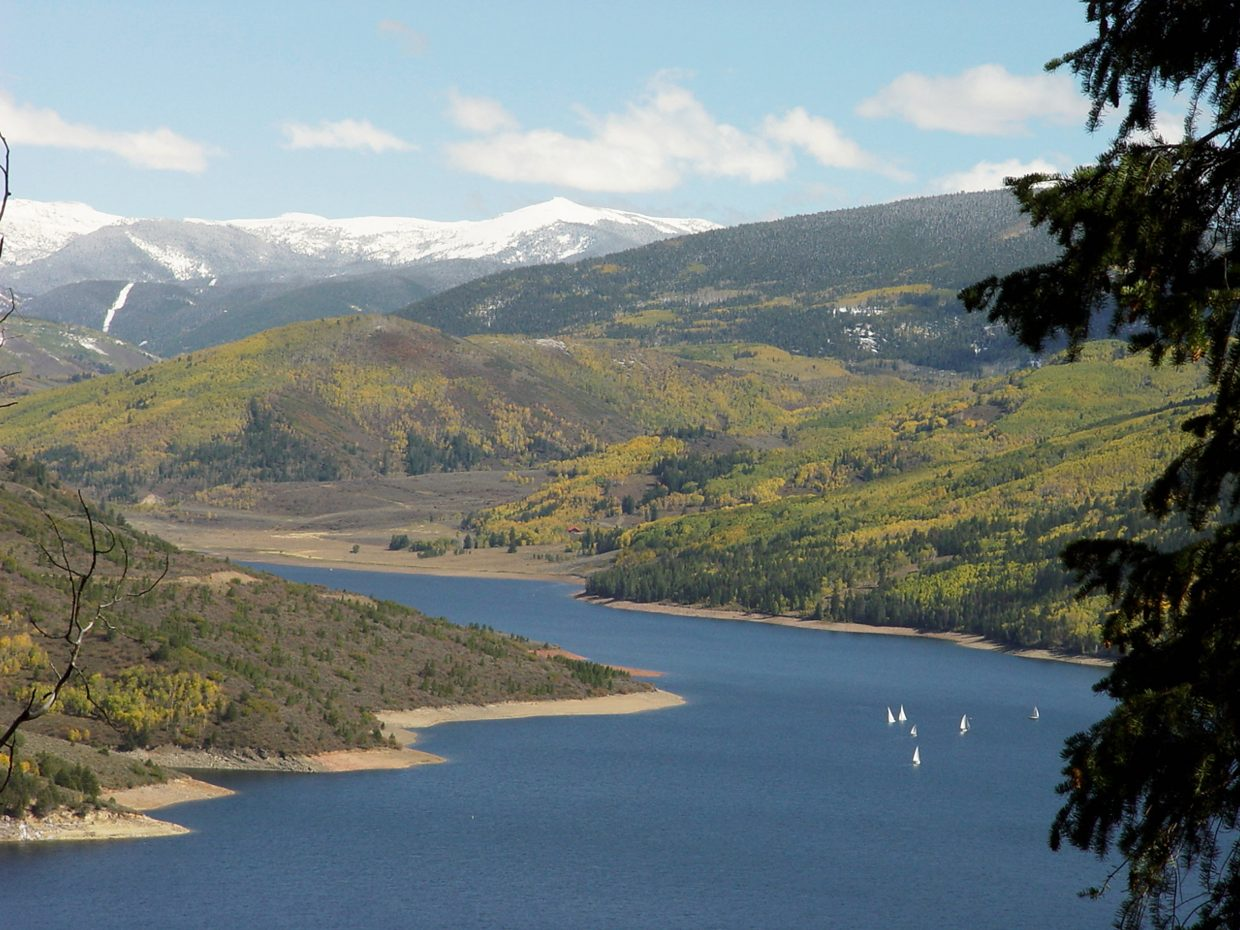 The Ruedi Reservoir offers camping, hiking and boating.