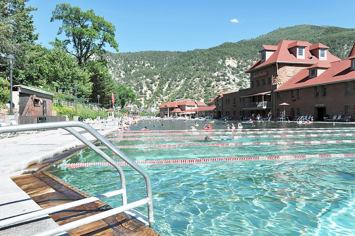 Visit the Glenwood Hot Springs Pool, one of the city's most popular attractions for locals and visitors alike.