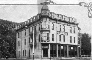 Photo Courtesy Frontier Historical SocietyIn 1888, Frederick Barlow completed the St. James Hotel, later known as the Hotel Barlow. Because of financial difficulties, Barlow lost the hotel to creditors in 1891. In later years, the hotel was known as St. Josephs Sanitarium and Hotel and as the Grand Hotel. The building was razed in the early 1930s.