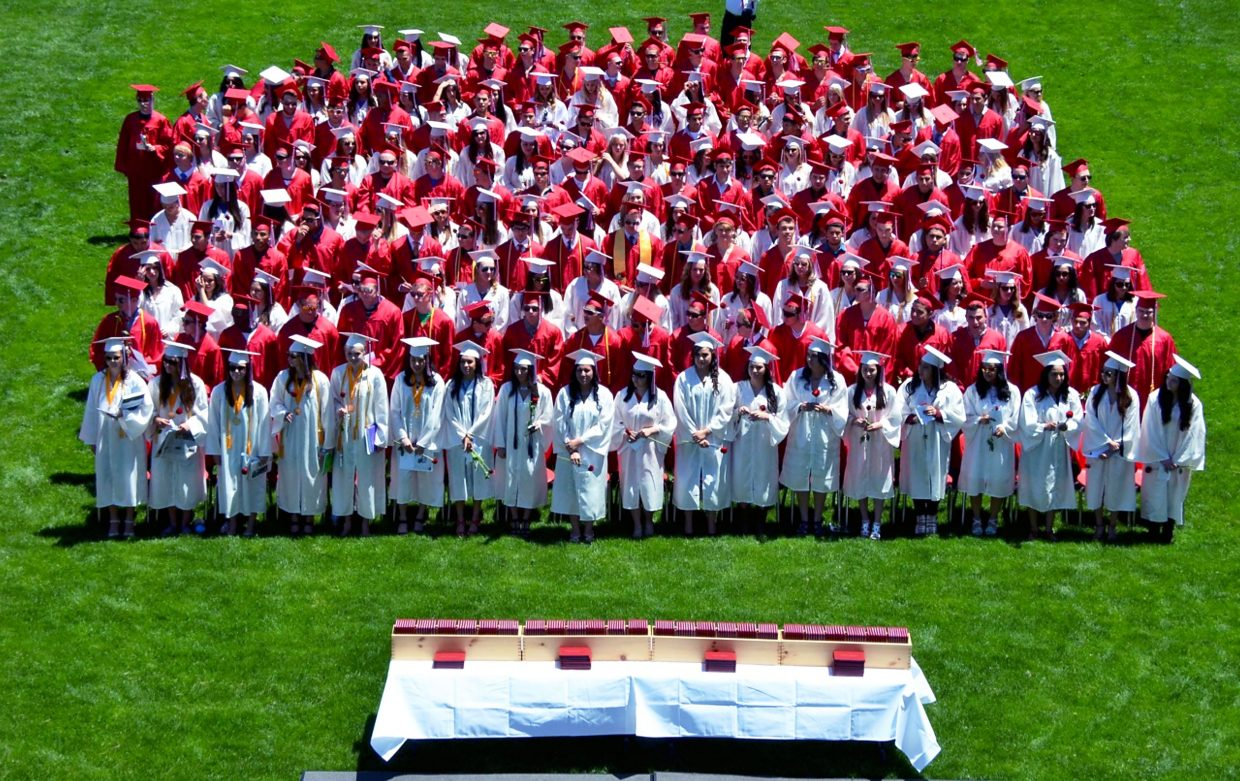 Glenwood Springs High School's graduating class of 2015 was the largest group of students to graduate from the high school in its history.