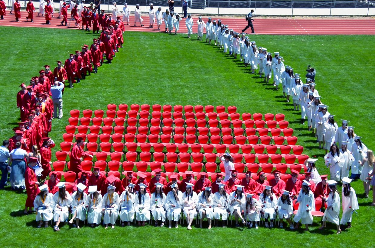 Glenwood Springs High School's graduating class of 2015 processed into the commencement ceremony on Saturday afternoon.