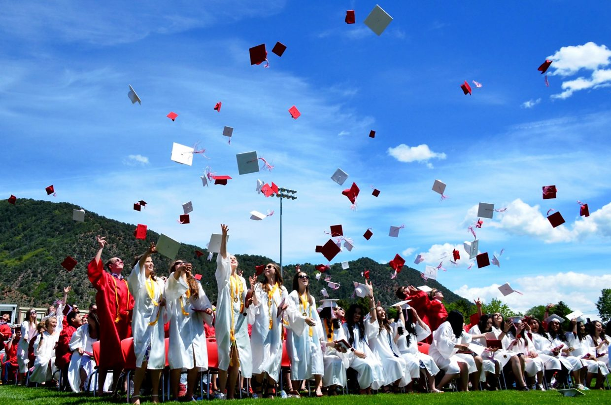 Glenwood Springs High School's graduating class of 2015 celebrated the end of their high school careers on Saturday afternoon.