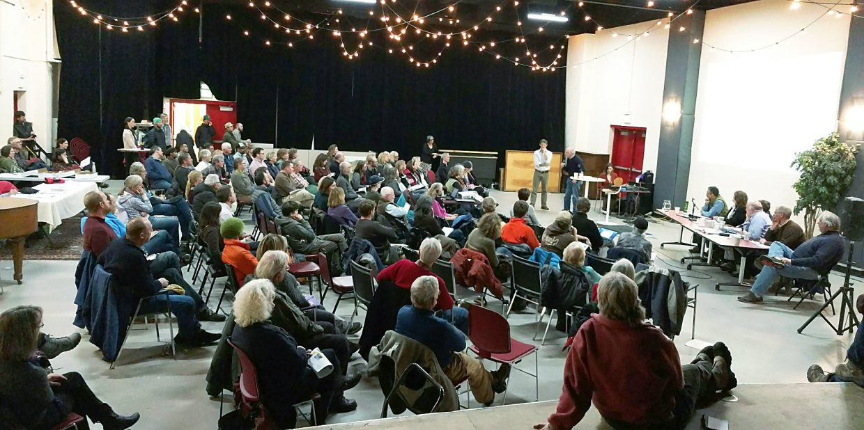 About 100 people attended Wednesday's housing forum at the Third Street Center in Carbondale.