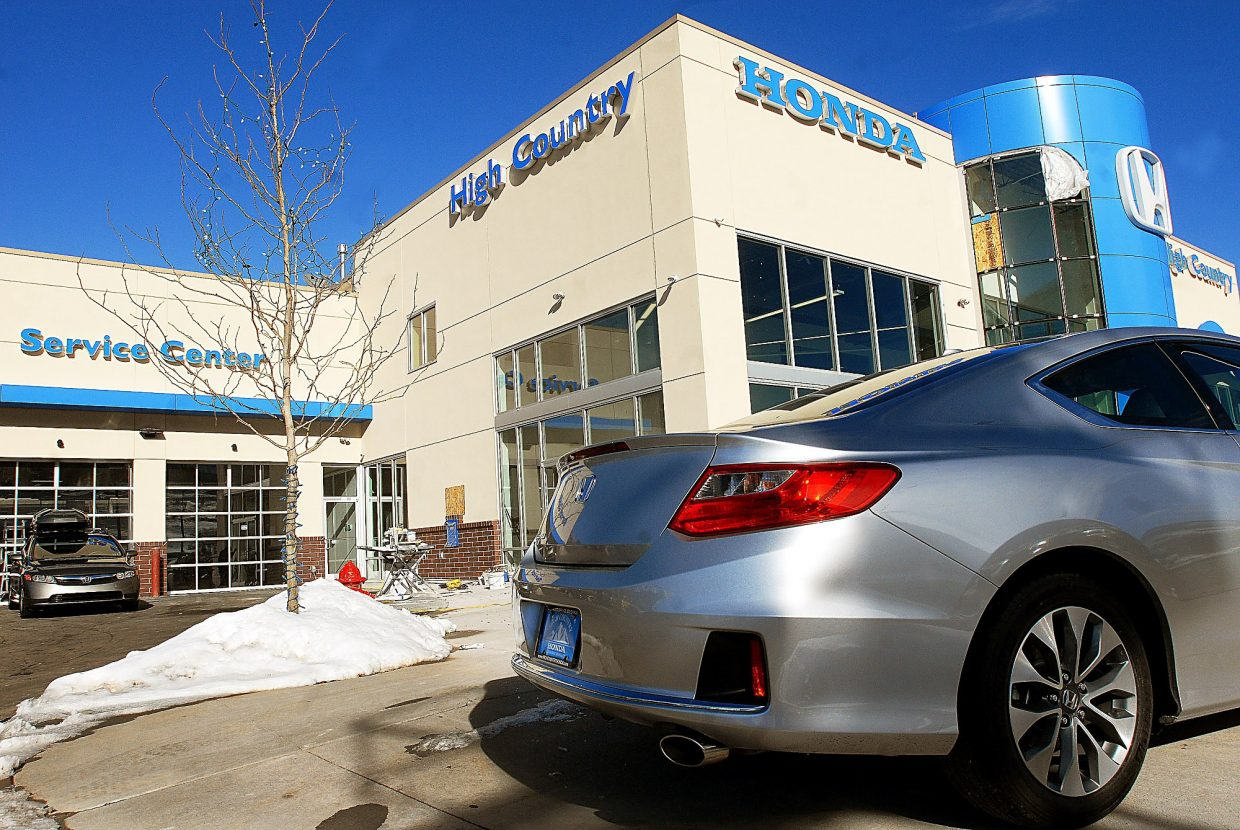 High Country Honda >> Glenwood Springs Auto Line Up Complete Again With Honda Opening