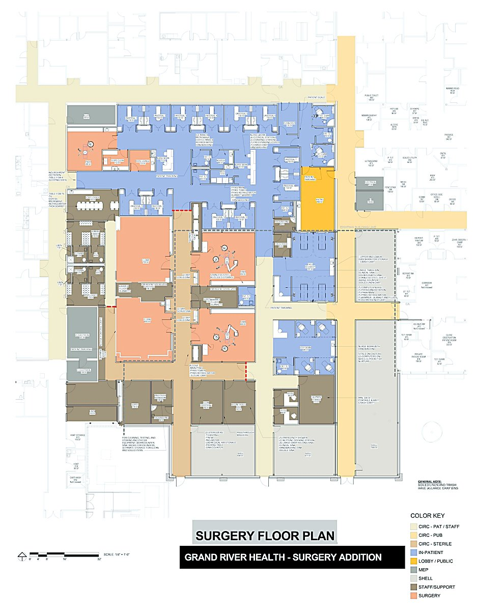 Endoscopy Room Floor Plan: Grand River Health To Add Surgery, More Clinic Space At