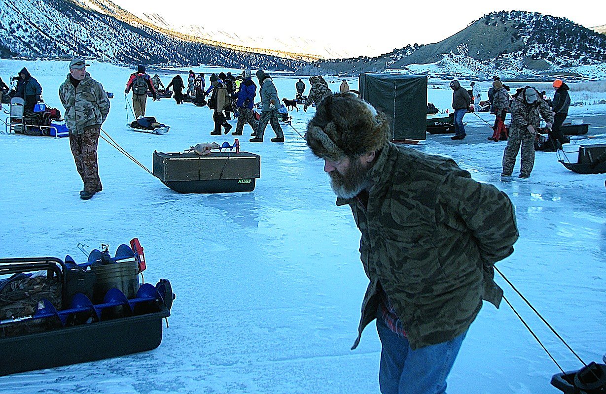 A chilly but fun time at rifle gap reservoir for annual for Colorado ice fishing report