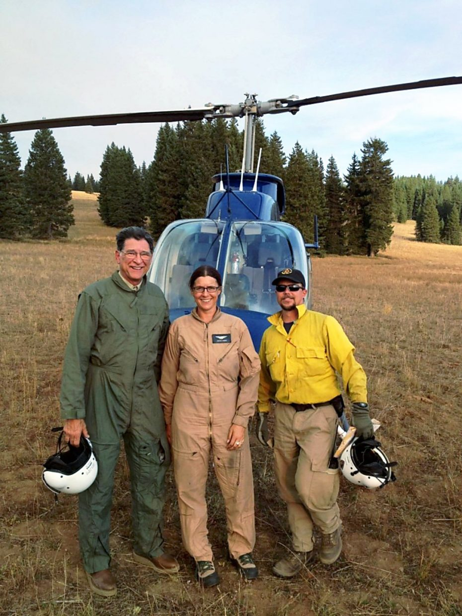 Kight fighting the Middle Elk Fire in 2012.
