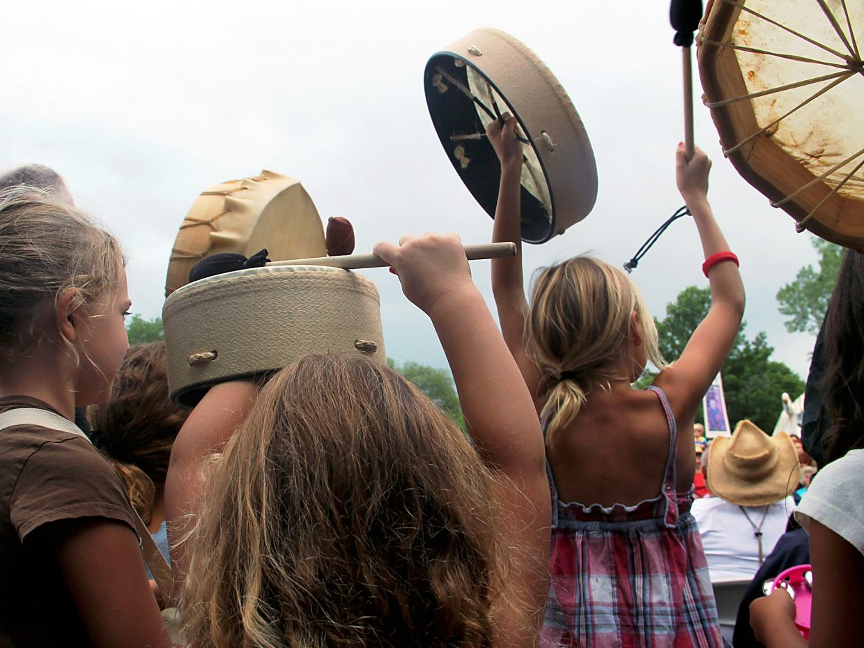 A drum circle has been held at Carbondale's Mountain Fair since a power outage started the tradition.