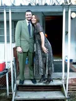 "James ""McCabe"" Mallin and Audrey Lowndes dressed up on the evening of April 14."