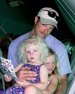 Ned Mechling with his two daughters when they were younger, Maddie and Charlie, now 12 and 16. A memorial fund has been set up at Alpine Bank following Mechling's unexpected death earlier this month. Proceeds will go toward his daughters' future educations.