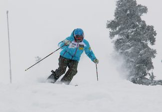 U.S. Ski Team Alpine Team member Alice McKennis enjoys a powder day  at the team Speed Center at Copper Mountian in November. She announced this week that she will miss this years Olympics and focus on further rehabilitation of her surgically repaired tibia.