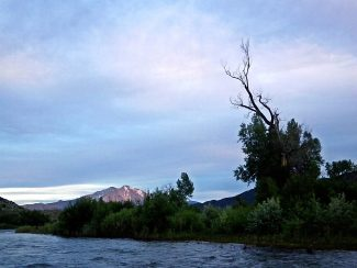 Evening fishing on the Roaring Fork River.