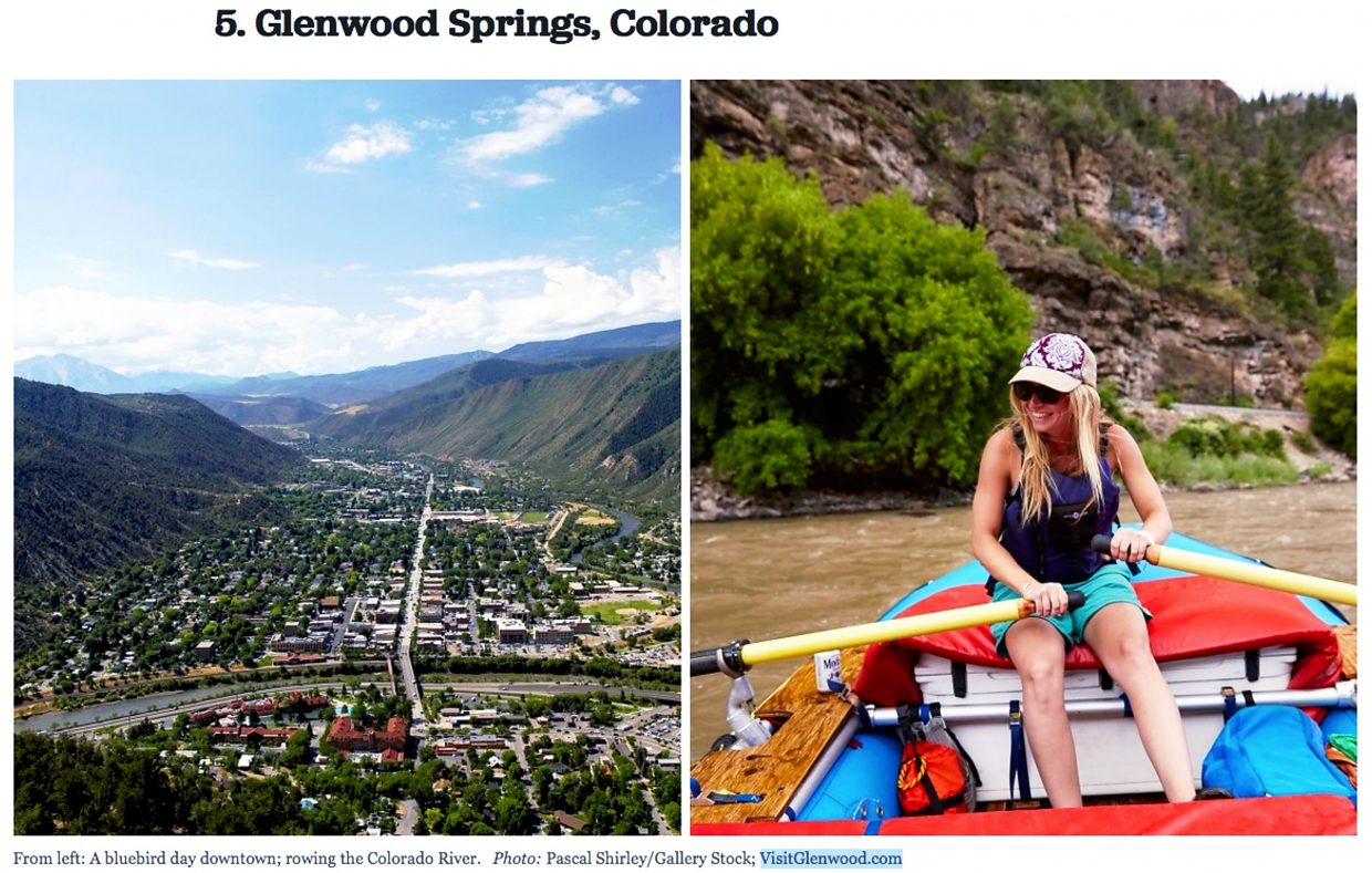 glenwood ranked fifth best town magazine depicts hanging lake no no