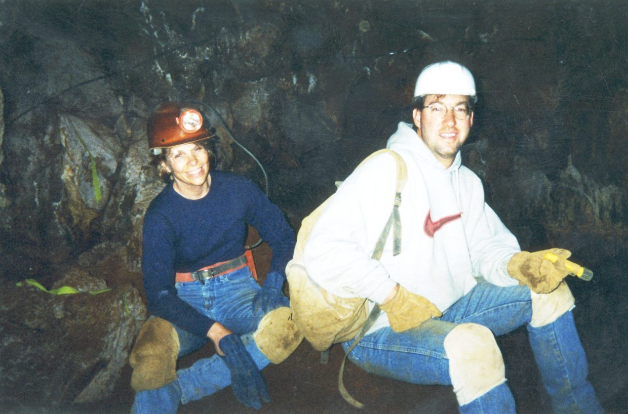Steve Beckley and his future wife, Jeanne, on a date into  the Fairy Caves on the side of Iron Mountain in Glenwood Springs in 1994, a few years before they acquired and opened the historic caverns to the public..