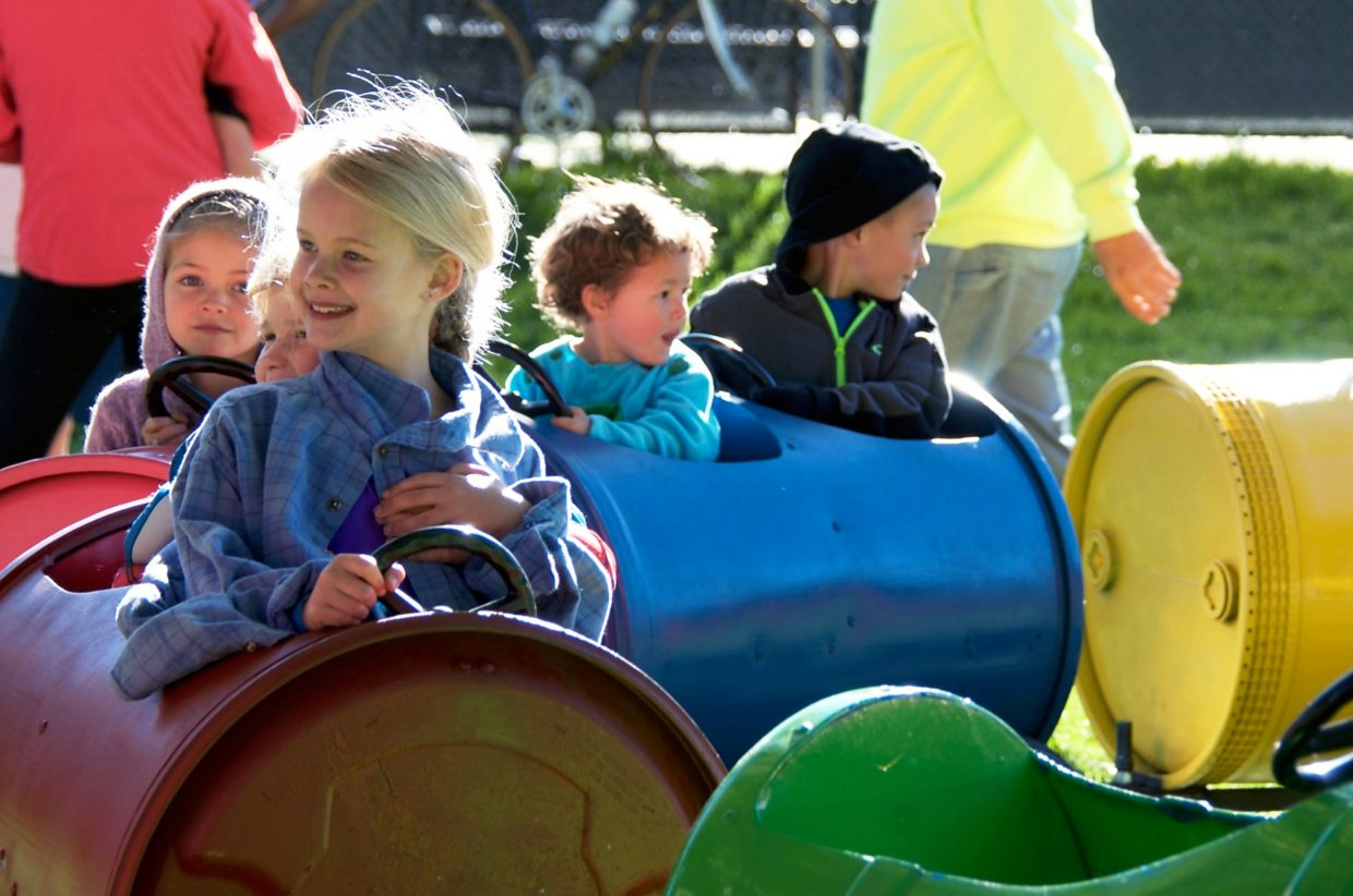 Kids enjoy the fun activities at Rally the Valley in Glenwood Springs on Saturday morning.