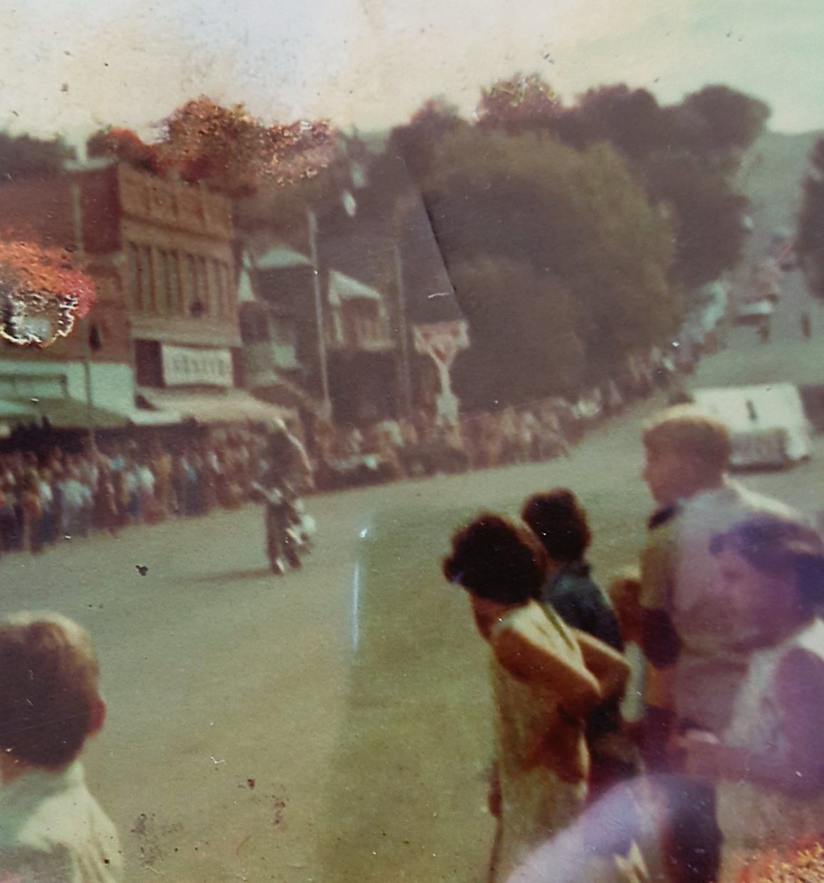 Gene Sullivan rides in the 1970 fair parade in Rifle.