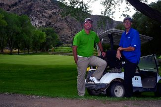 Rifle Creek Golf Course head professional Kyle Daniell, left, and head groundskeeper J.R. Wolff have seen a resurgence at the golf course in the past seven years. It's gone from having bank accounts that were severely in the red to being prosperous as the end of the summer nears.