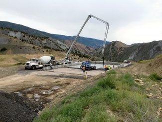 Concrete was poured last week for the new sludge storage beds at the South Canyon Landfill, and are awaiting final state health department clearance. Once approved, the drying beds will be used to store biosolids left over from the treatment process instead of the former wastewater plant site in downtown Glenwood Springs.