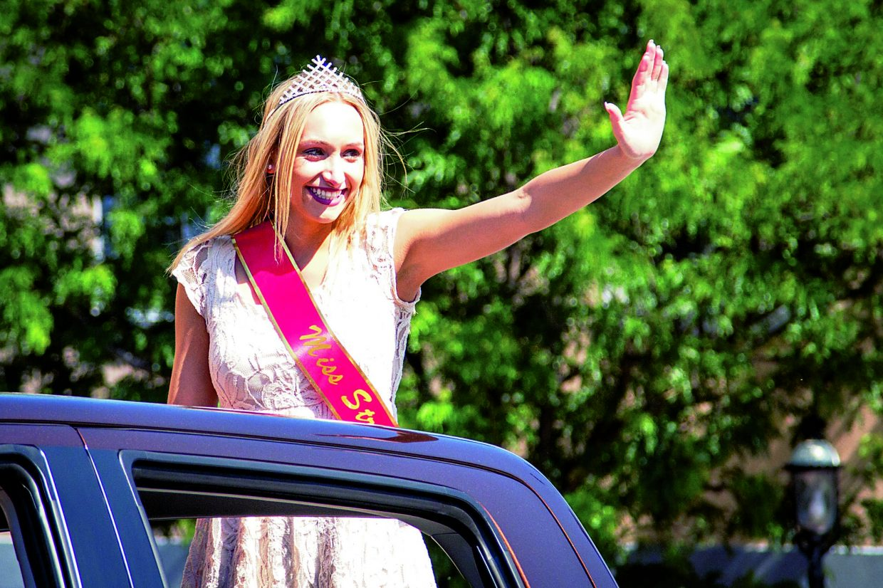 The 118th Strawberry Days Parade is lead by the new 2015 Miss Strawberry days Bre L'Estrange on Saturday morning.