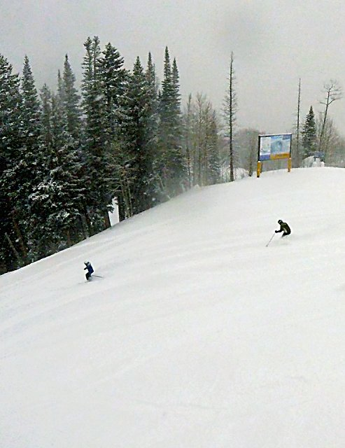 Slopes were snowy on Christmas Day at Sunlight Mountain Resort, where visits are up more than 20 percent from last year.