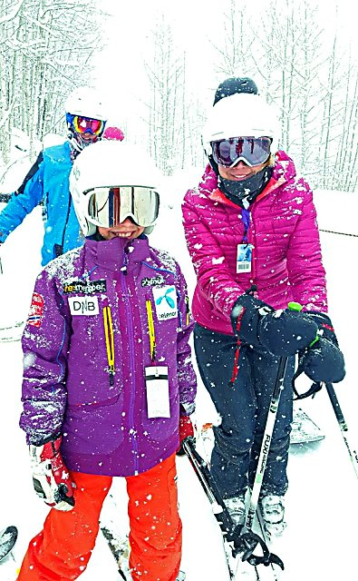 Visitors enjoyed a white Christmas at Sunlight Mountain Resort.
