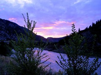 An early September sunrise on Horsehoe Bend near No Name.