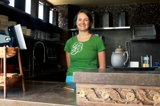 Molly Mcconnell of Carbondale's True Nature Healing Arts poses in the tea room.