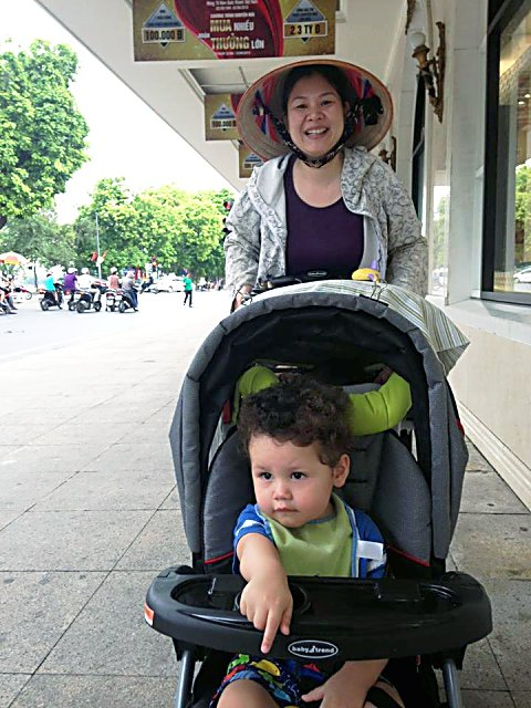 Tabo Bond-Osius, 20 months, with his nanny Thu.