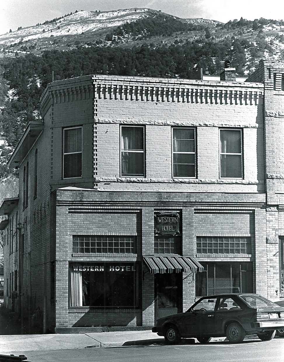 The Western Hotel, circa 1980s when it was still served as an active boarding house and overnight accommodations for working-class visitors to Glenwood Springs.