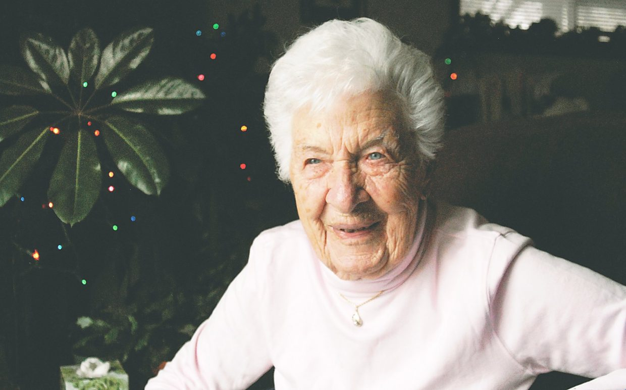 Shown here on the occasion of her 100th birthday in 2011, Ida Toniolli, longtime owner of the Western Hotel in downtown Glenwood Springs, died last week at age 105.