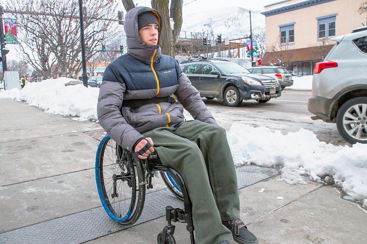 Tim Burr has been paralyzed since a skiing accident in 2014 and uses a manual wheelchair to get around town along with a wheelchair-compatible vehicle.