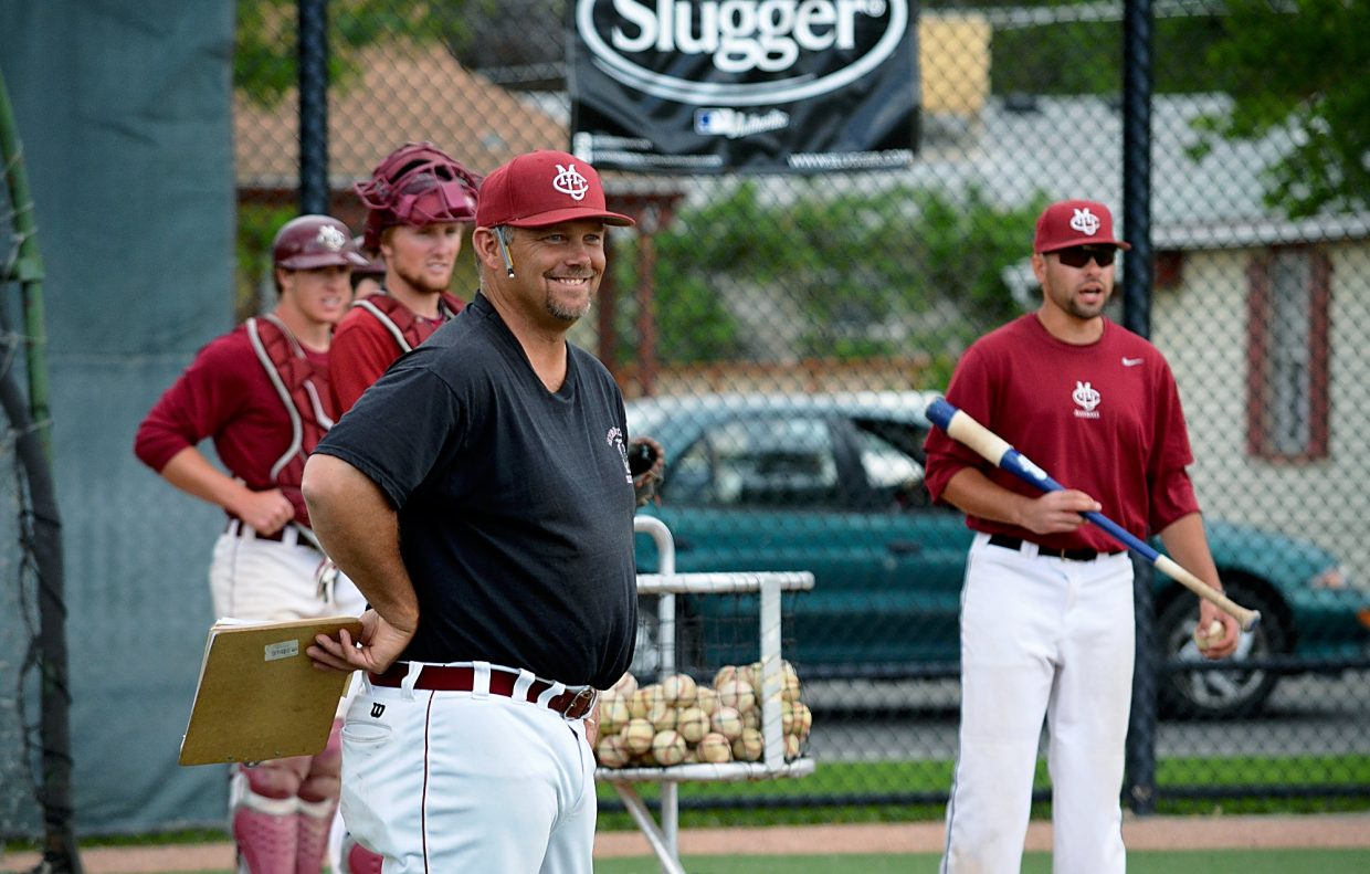 e338cc9f Colorado Mesa University baseball coach Chris Hanks smiles as he watches  his team practice on Wednesday in Grand Junction. Hanks, a Roaring Fork  High School ...