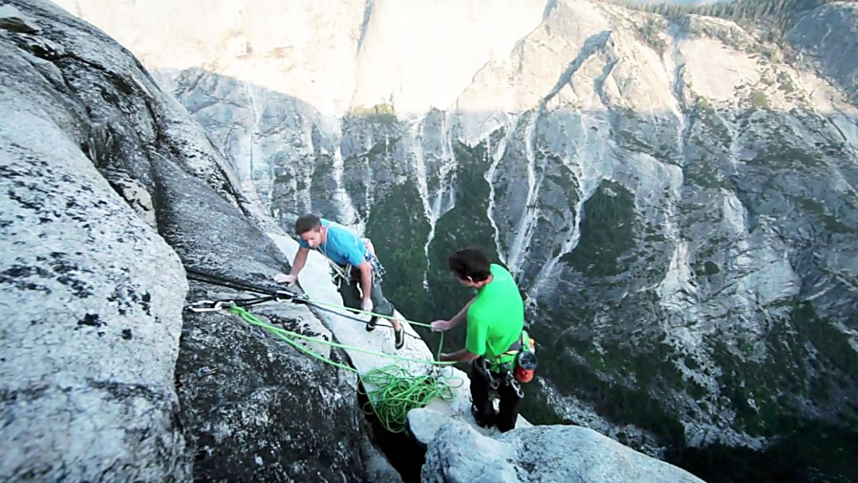 Tommy Caldwell and Alex Hannold on the Fitz Traverse.