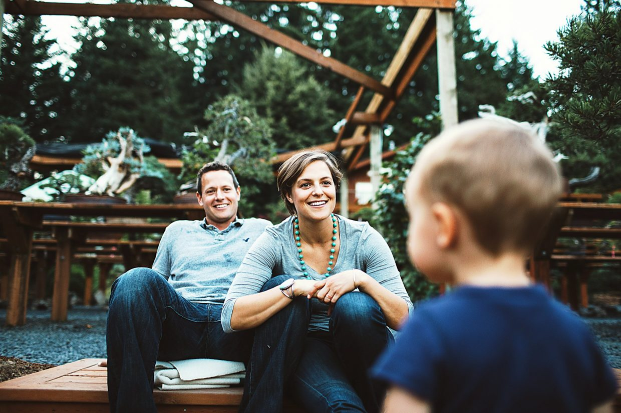 Ryan and Chelsa Neil enjoy a moment with son Taft, who will be 2 in November.