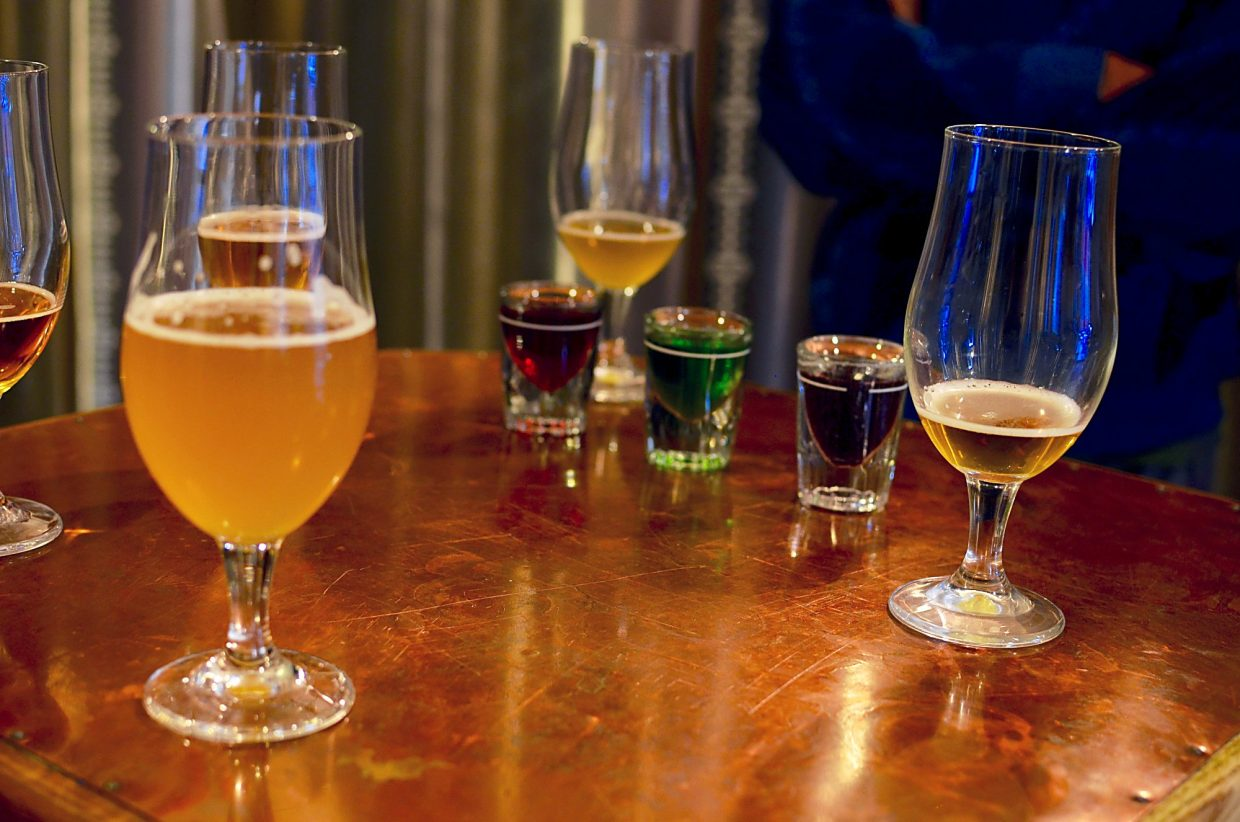 Sour beer is traditionally served with fruity syrups that cut the beer's tartness.