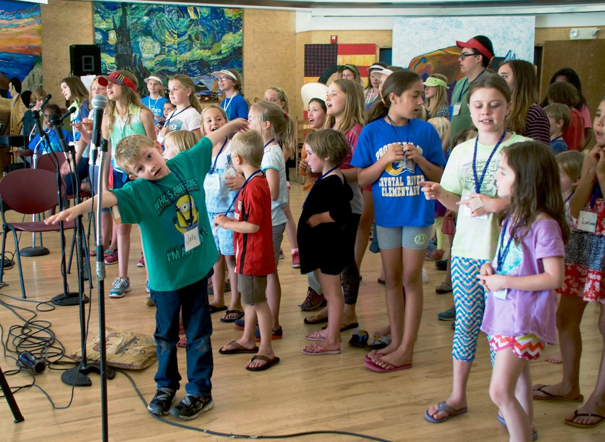 Kids express themselves at the Earthbeat Music Camp, which is held at the Carbondale Community School.