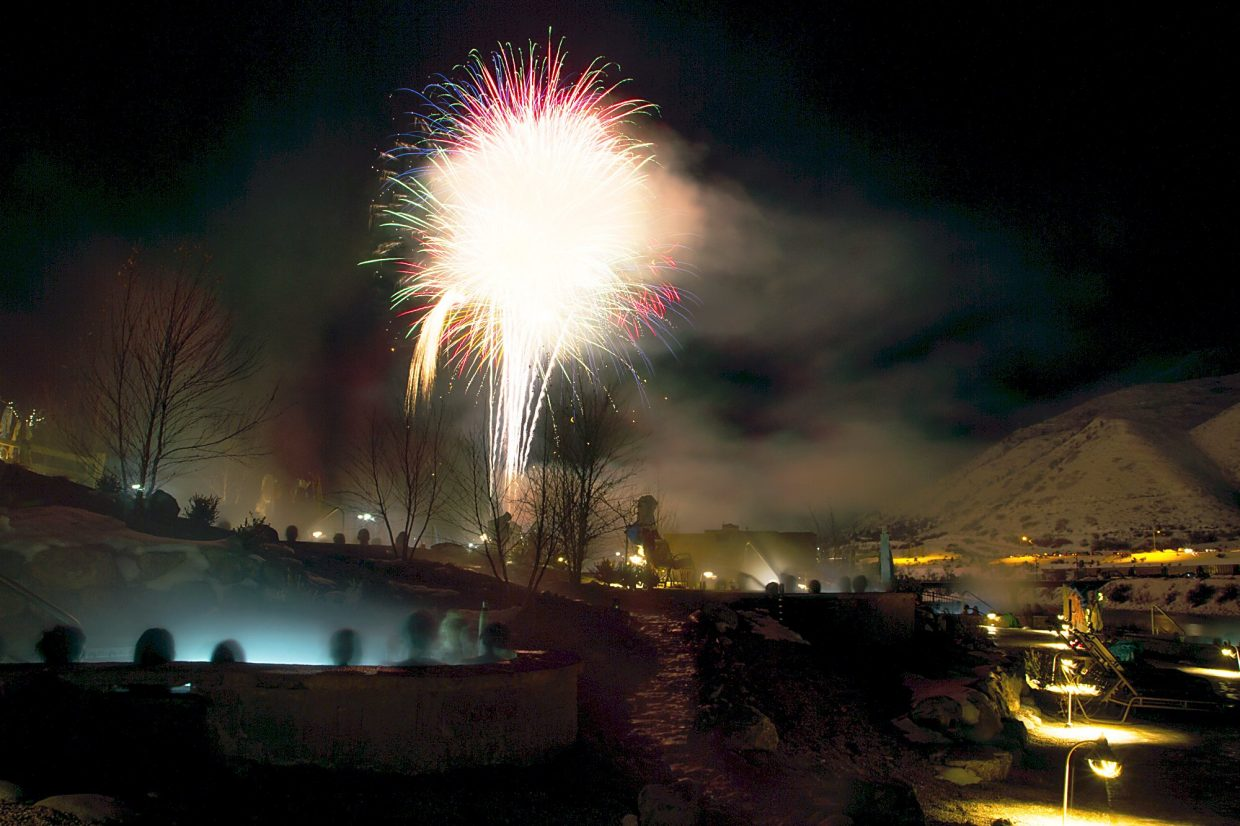 The pools were packed at Iron Mountain Hot Springs Saturday night in anticipation of Sunlight Mountain's annual Ski Spree. The soakers enjoyed a 15 minute firework display that lit up Glenwood Springs at 8 p.m. to celebrate the end of the extravaganza.