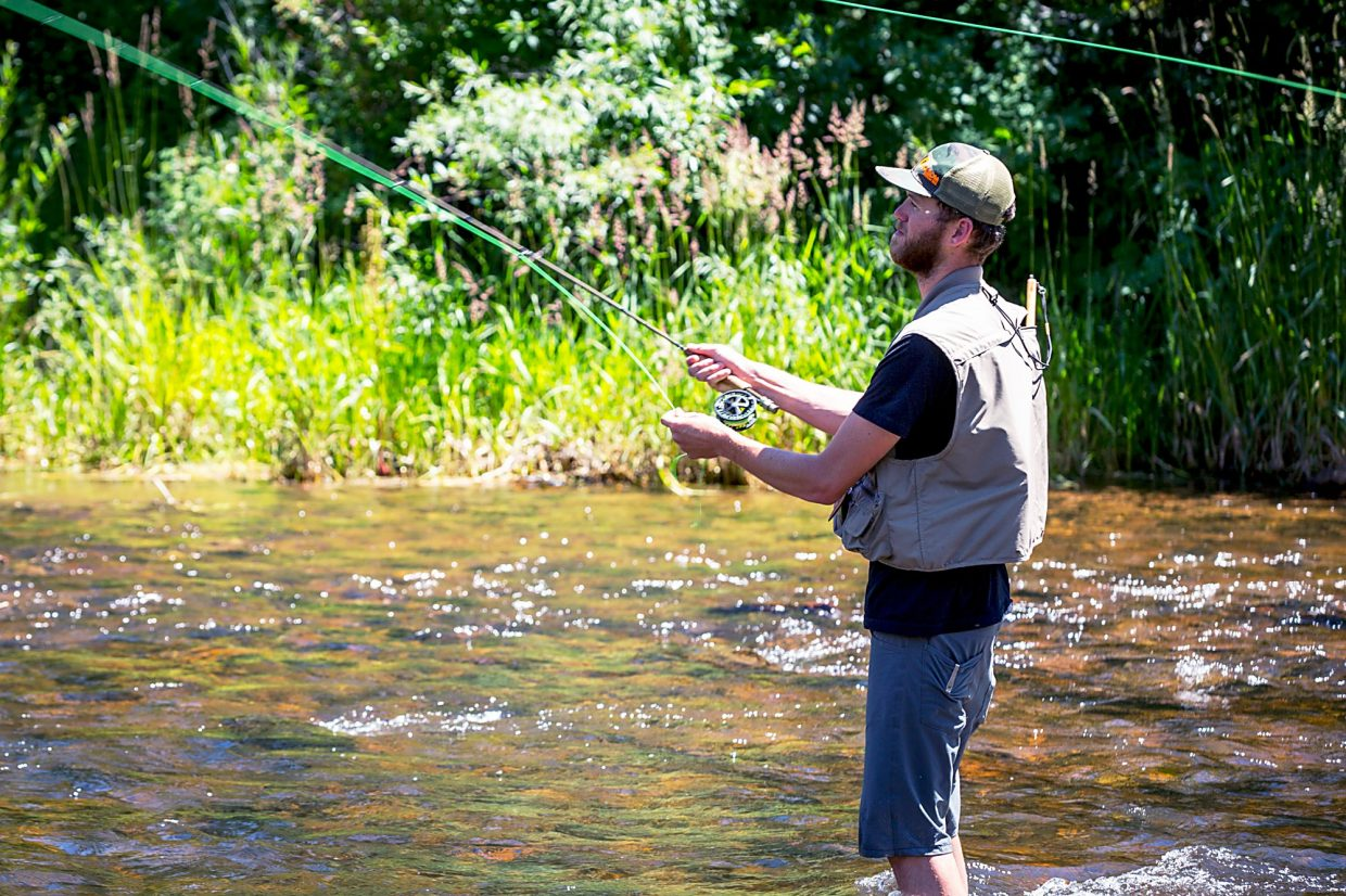 Study fishing on fryingpan river pumps 4m into valley for Roaring river fishing hours