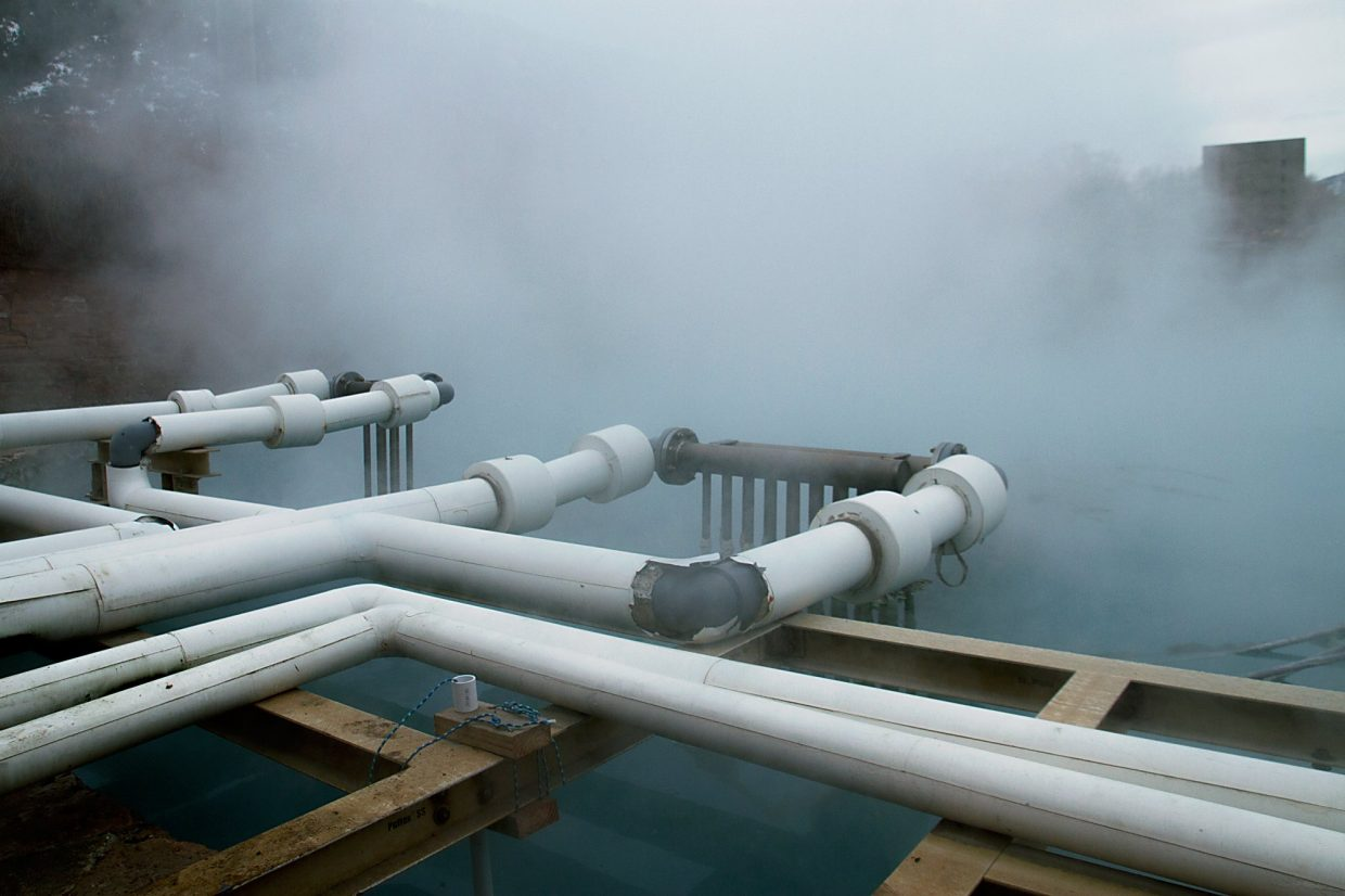 Titanium heat exchangers draw water from the main